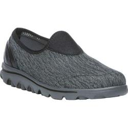 Women's Propet TravelActiv Slip-On Black/Grey Heather Nylon Mesh/Polyurethane
