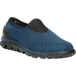 Women's Propet TravelActiv Slip-On Black/Navy Heather Nylon Mesh/Polyurethane
