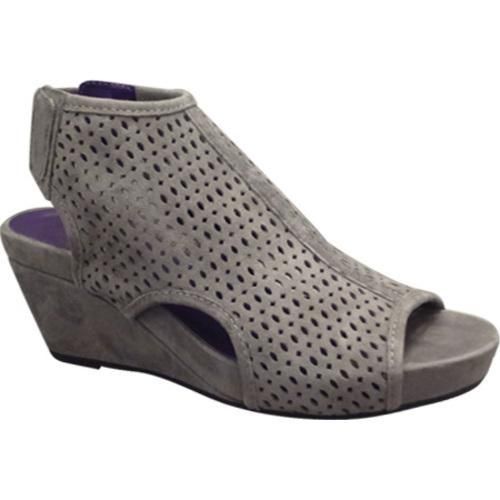 f558d00a1e Shop Women's VANELi Inez Wedge Sandal Grey Suede - Free Shipping Today -  Overstock - 12048855
