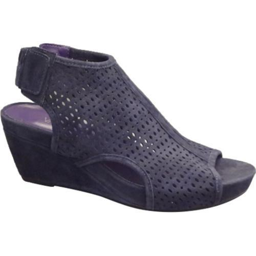 2cc6a2d8d43 Shop Women s VANELi Inez Wedge Sandal Navy Suede - Free Shipping Today -  Overstock - 12048857