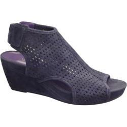 Women's VANELi Inez Wedge Sandal Navy Suede