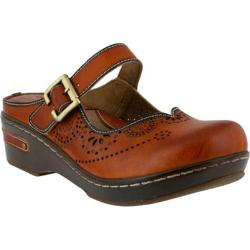 Women's L'Artiste by Spring Step Aneria Clog Camel Leather