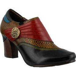 Women's L'Artiste by Spring Step Fia Slip On Black Multi Leather