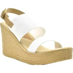 Women's Sbicca Camilla Slingback Wedge White Canvas/Leather