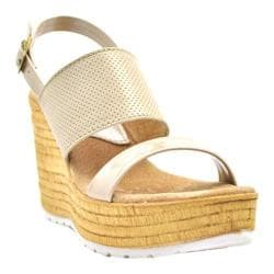 Women's Sbicca Cucamonga Slingback Wedge Nude Leather/Faux Leather