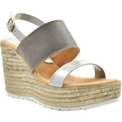 Women's Sbicca Cucamonga Slingback Wedge Stone Leather/Faux Leather