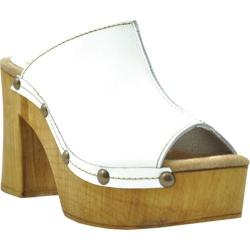 Women's Sbicca Manzanita Platform Slide White Leather