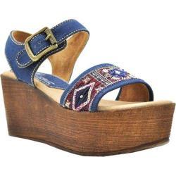 Women's Sbicca Tampa Beaded Platform Sandal Denim Beaded