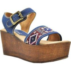 Women's Sbicca Tampa Beaded Platform Sandal Denim Beaded