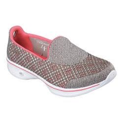 Women's Skechers GOwalk 4 Kindle Slip On Walking Shoe Taupe/Coral