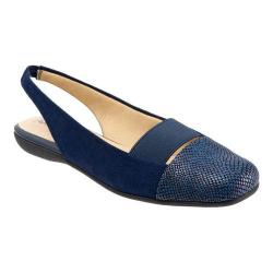 Women's Trotters Sarina Slingback Navy Suede Combo