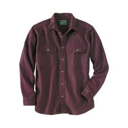Men's Woolrich Expedition Chamois Shirt Burgundy