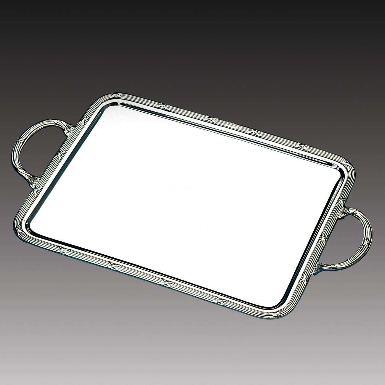 Wolff Stainless Steel Large Rectangular Serving Tray with Handles