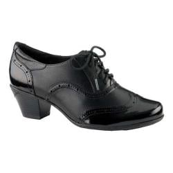 Women's Earth Fennel Heeled Oxford Black Crinkle Patent