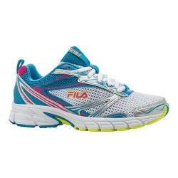 Women's Fila Royalty Running Shoe Metallic Silver/Atomic Blue/Pink Glow