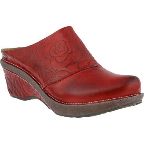 Women's L'Artiste by Spring Step Bande Clog Red Leather