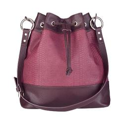 Women's San Diego Hat Company Faux Leather Bucket Bag BSB1547 Port