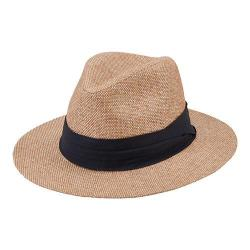 Men's San Diego Hat Company Fedora PBF7303 Natural/Black