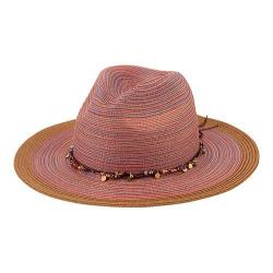 Women's San Diego Hat Company Mixed Braid Fedora MXM1023 Rust