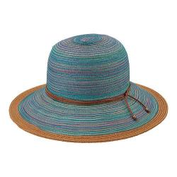 Women's San Diego Hat Company Mixed Braid Sun Brim Hat MXM1015 Teal