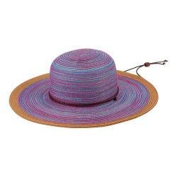 Women's San Diego Hat Company Mixed Braid Sun Brim Hat MXM1022 Purple