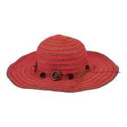 Women's San Diego Hat Company Packable Ribbon Crusher Medium Brim Hat RBM5558 Cayenne