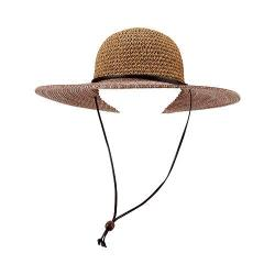 Women's San Diego Hat Company Ultrabraid Sun Hat w/ Chin Cord UBL6483 Rust