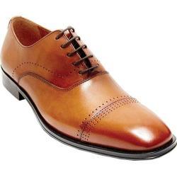 Men's Steve Madden Duron Cap Toe Shoe Tan Leather