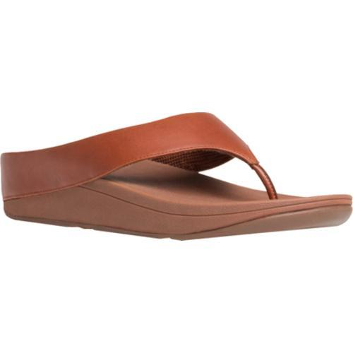 Women's FitFlop Ringer Thong Sandal Dark Tan