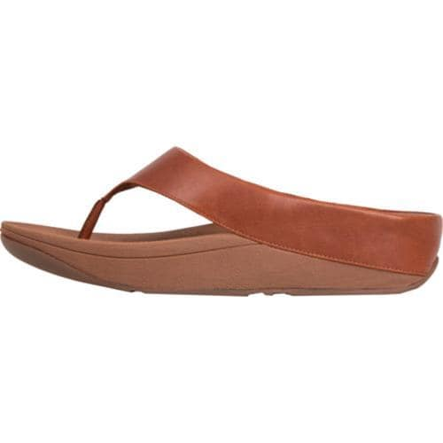 Women's FitFlop Ringer Thong Sandal Dark Tan - Thumbnail 1