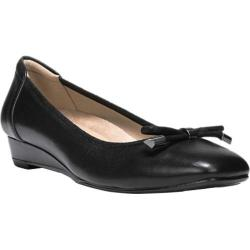 Women's Naturalizer Dove Slip On Wedge Black Leather