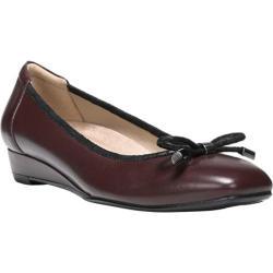 Women's Naturalizer Dove Slip On Wedge Bordo Leather
