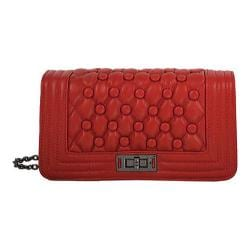 Women's Mellow World Anastasia Quilted Crossbody Clutch Red