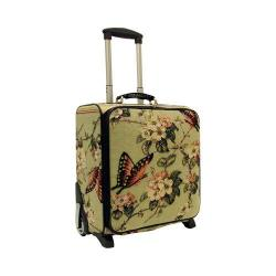 Women's Mellow World Butterfly Rolling 17in Carry-On Suitcase Green