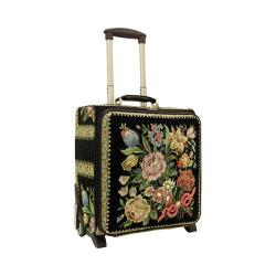 Women's Mellow World Flower Shop 17in Hand Beaded Rolling Luggage Black