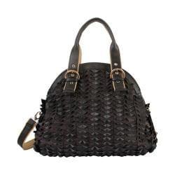 Women's Mellow World Sybil Textured Folds Shoulder Bag Black