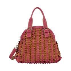 Women's Mellow World Sybil Textured Folds Shoulder Bag Fuchsia