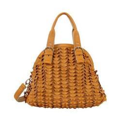 Women's Mellow World Sybil Textured Folds Shoulder Bag Mustard
