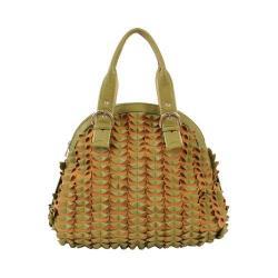 Women's Mellow World Sybil Textured Folds Shoulder Bag Olive