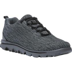 Women's Propet TravelActiv Bungee Lace Shoe Black/Grey Heather Nylon Mesh/Polyurethane