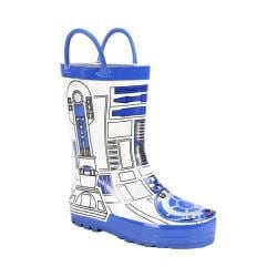 Children's Western Chief Star Wars R2D2 Rain Boot White