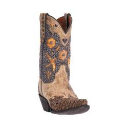 Women's Dan Post Boots Vintage Bluebird Cowgirl Boot DP3538 Tan Leather