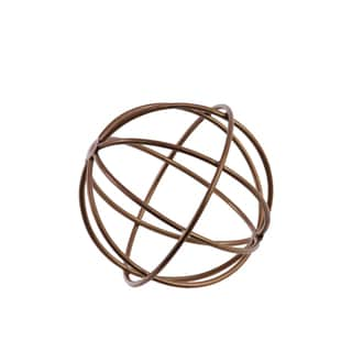 Urban Trends Collection Champagne-finish SM-coated Metal Orb Dyson Sphere Design