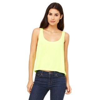 Flowy Women's Boxy Neon Yellow Tank