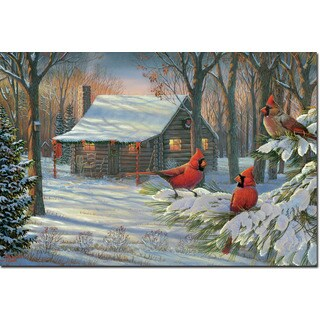 WGI Gallery Cozy Winter Cabin Wall Art Printed on Wood
