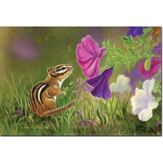 WGI Gallery Chipmunk In The Garden Wall Art Printed on Wood