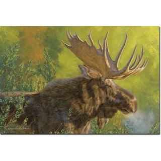 WGI Gallery 'Crisp Fall Morning Moose' Multicolored Wood Wall Art