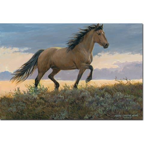 WGI Gallery Buckskin Stallion Wall Art Printed on Wood