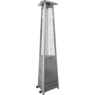 Hanover Stainless Steel 7-foot 42,000 BTU Triangle Propane Patio Heater