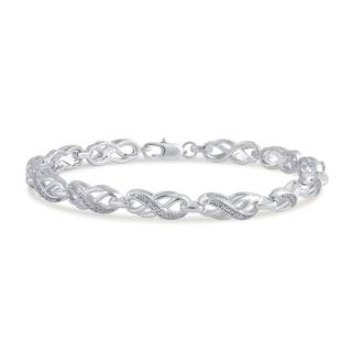 Divina 14k Gold Over Brass Diamond Accent Infinity Bracelet (I-J,I2-I3)